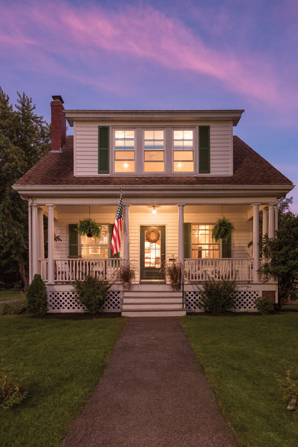 The Glassman's Portland Maine bungalow