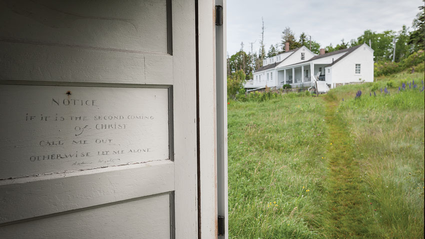 homes and studios belonging to celebrated Maine artists.