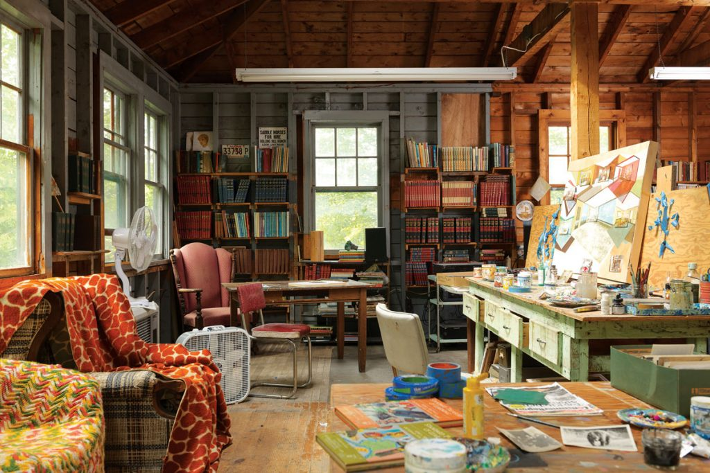 Studio, William Wegman, Loon Lake, Rangeley, 2018