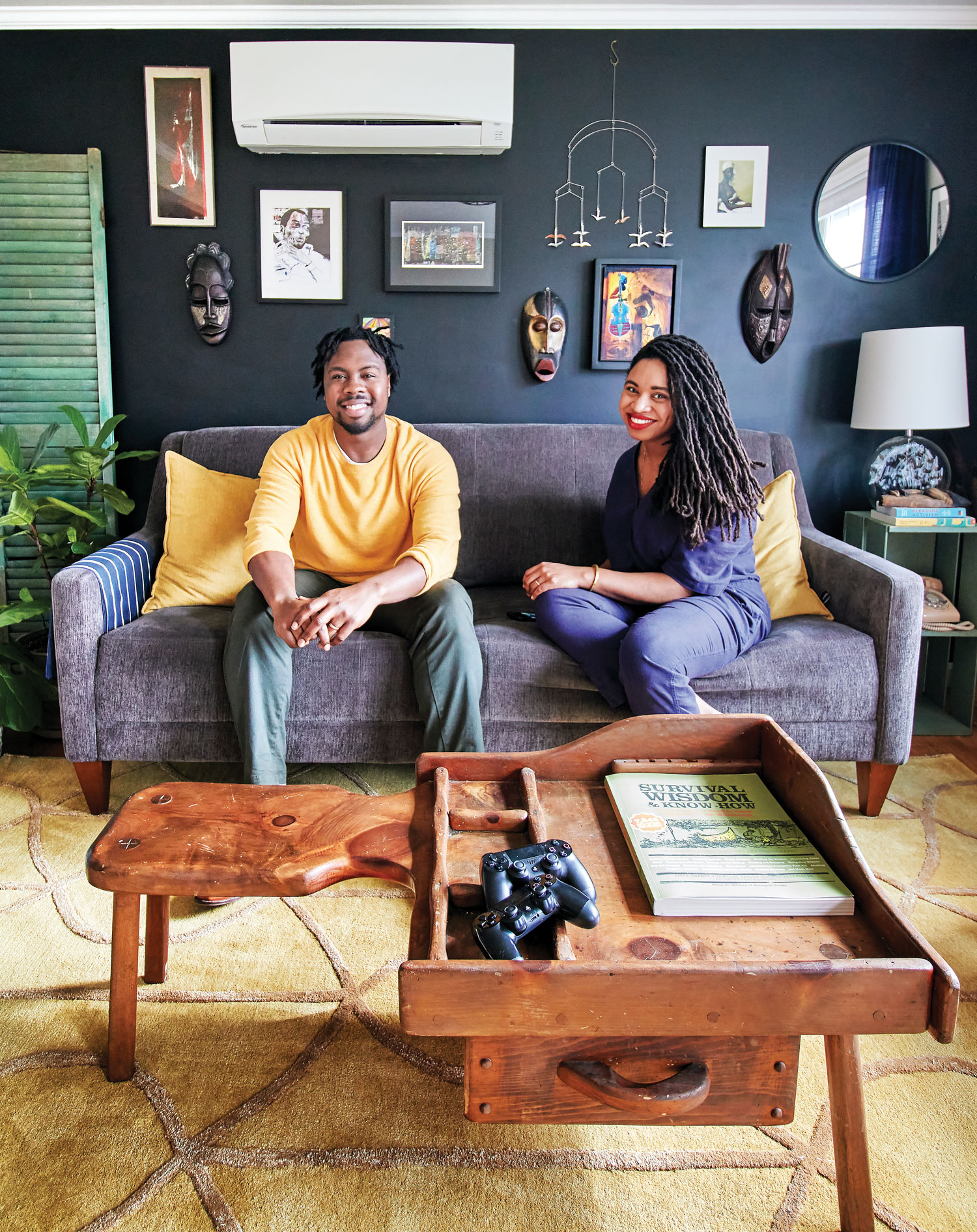 Patrick Jones and Chanel Lewis in their Westbrook living room