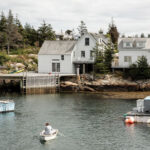the Wheaton Island home of , realist painter Bo Bartlett and abstract painter Betsy Eby
