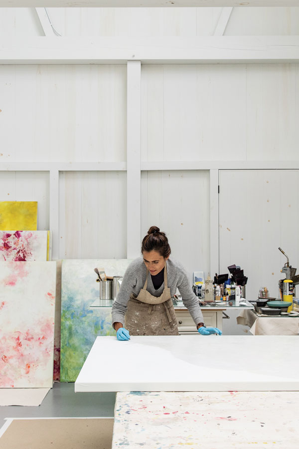 Betsy Eby in her Maine studio