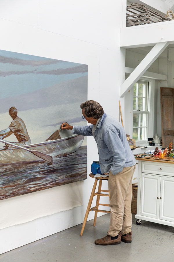 bo bartlett finishing his painting