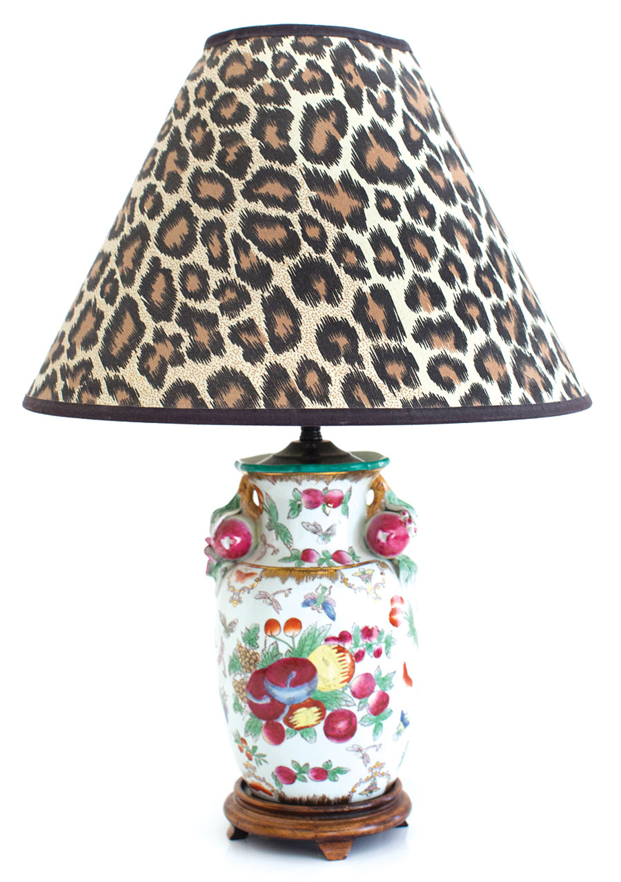leopard-print lampshades