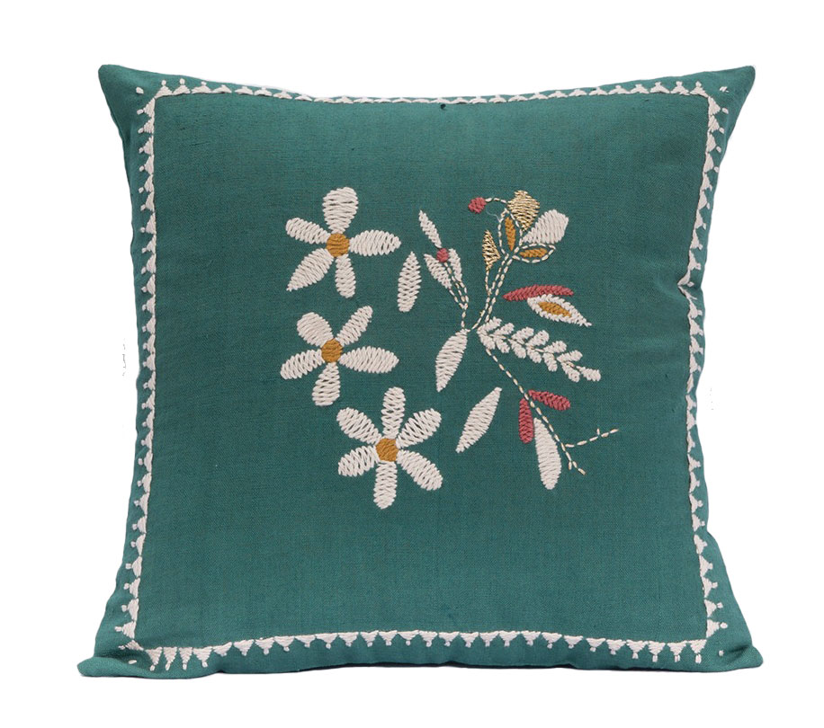 Embroidered Jamini Design pillows