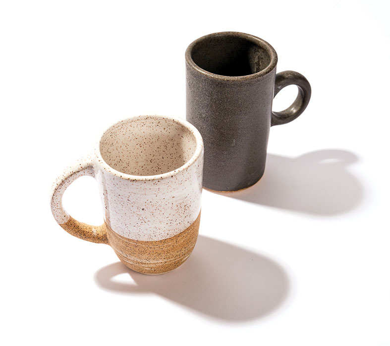 Campfire Pottery to-go mugs
