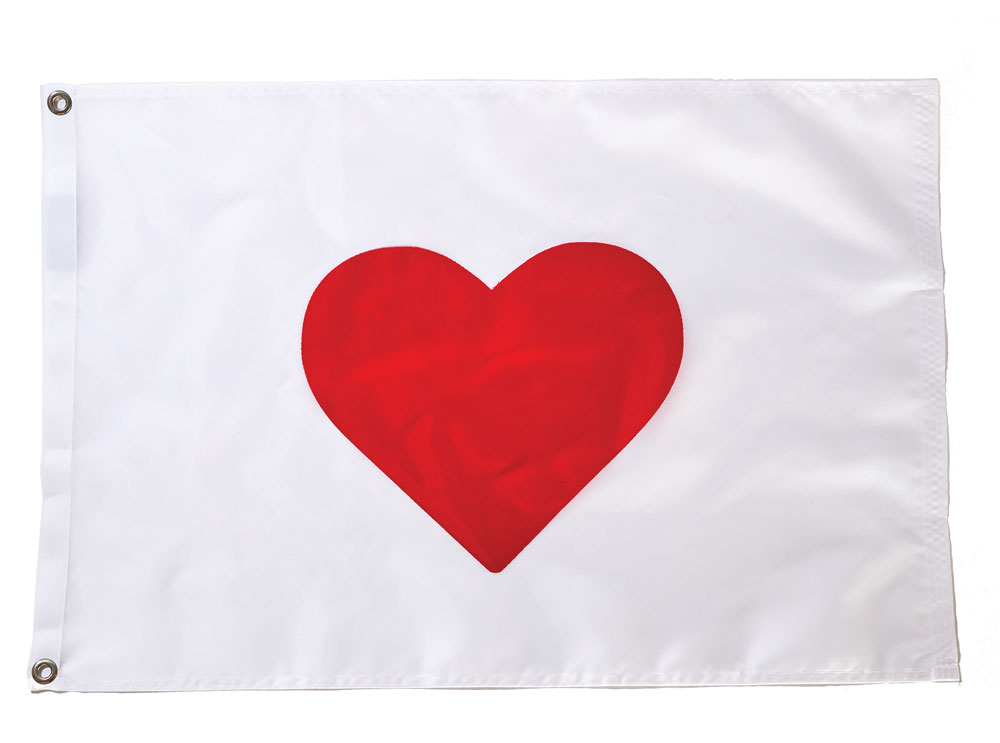 Maine Flag Company Heart-of-It-All flag
