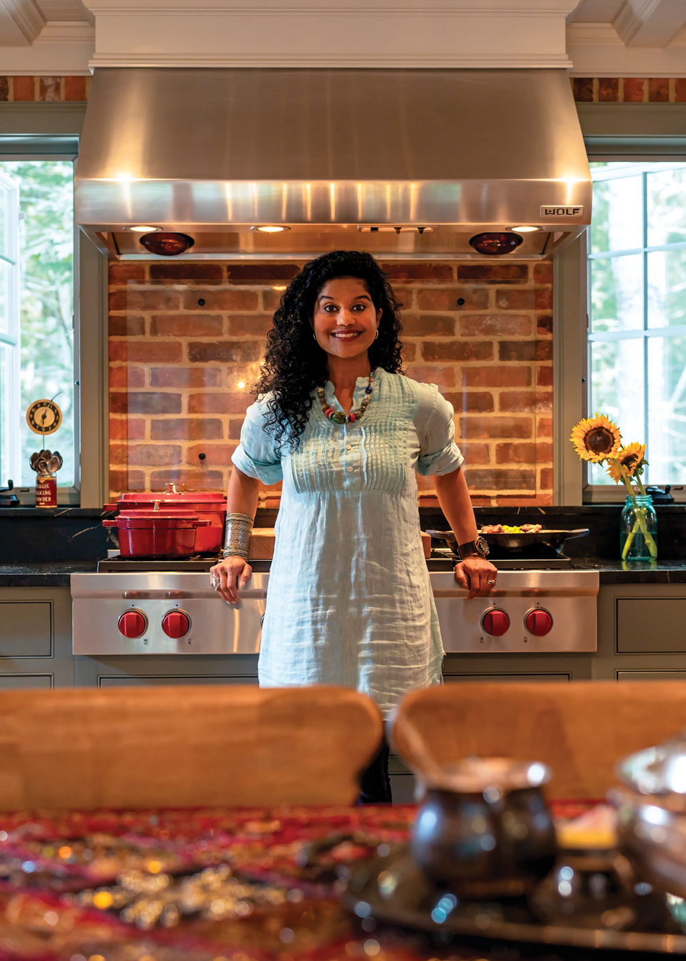 Cherie Scott of Mumbai to Maine in her Boothbay kitchen