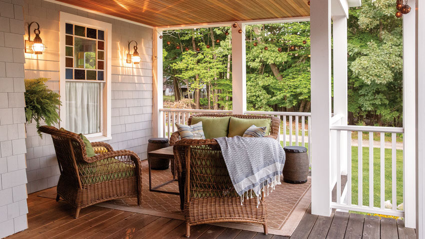Michele and Mark Zajkowski's Great Diamond Island porch