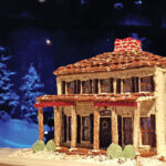 A gingerbread house replica of Boothbay's 1786 Kenniston Hill Inn by