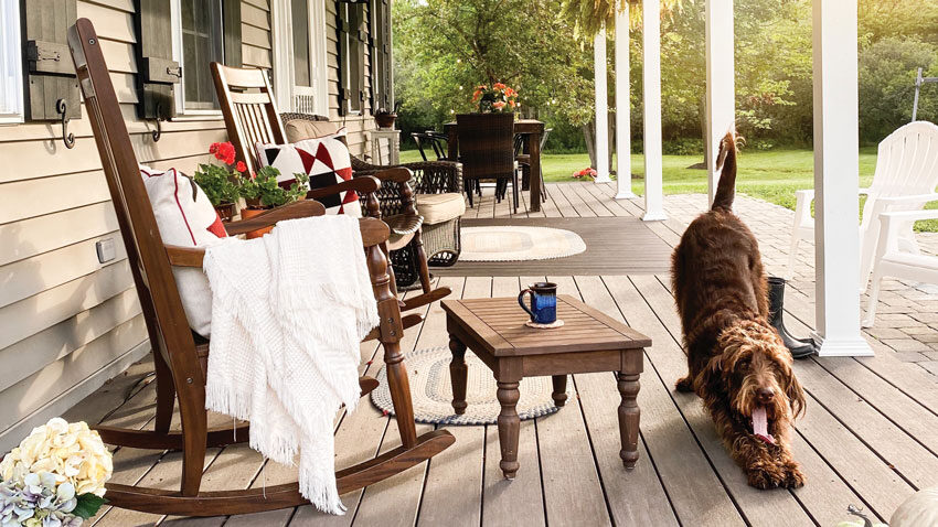 Anita Leadbetter's North Yarmouth porch
