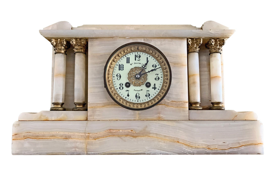 French-made antique marble clock