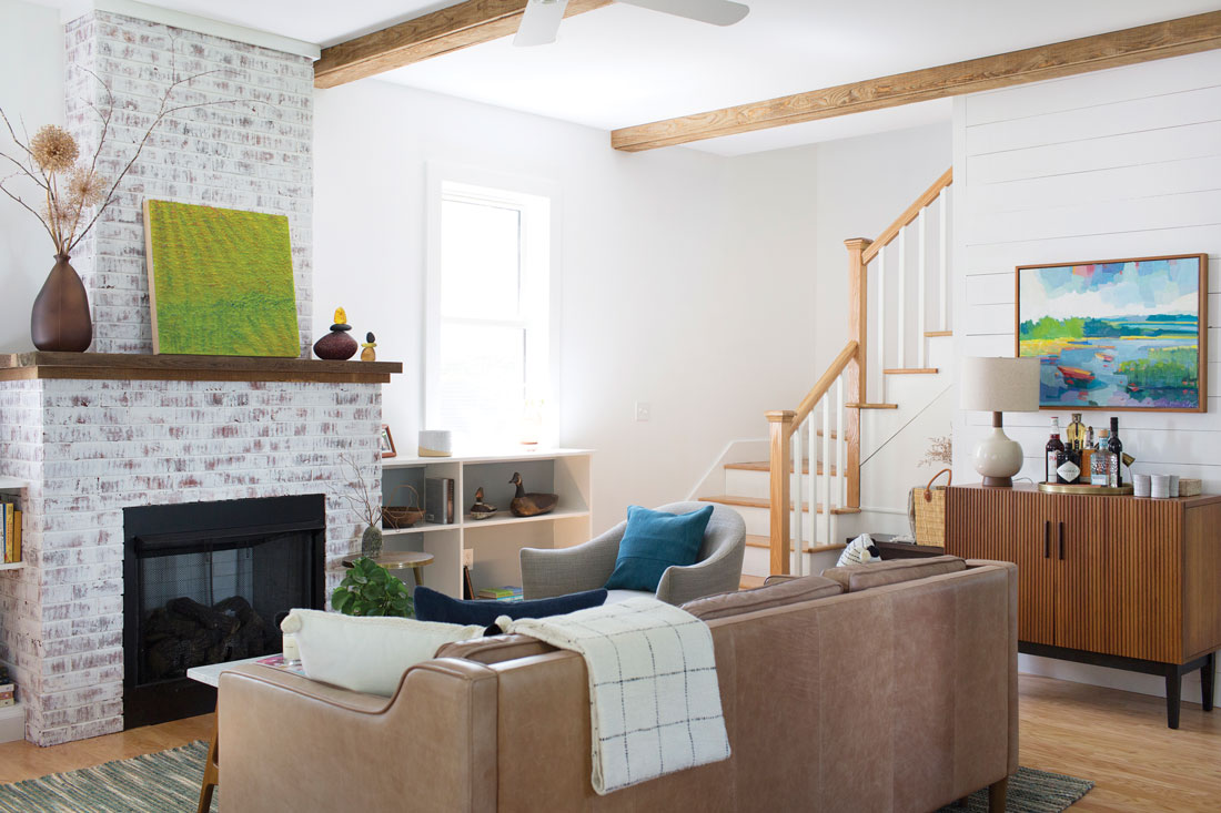 Michelle Peele's Rutherford Island living space after renovating