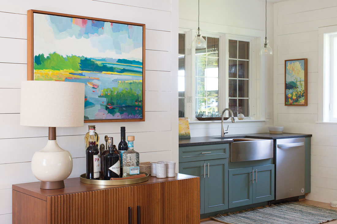 Michelle Peele's Rutherford Island kitchen after renovating
