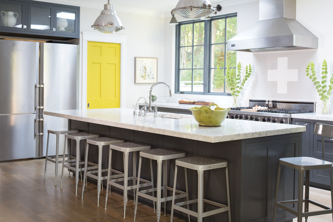 Pantone's colors of the year in a Cape Elizabeth kitchen