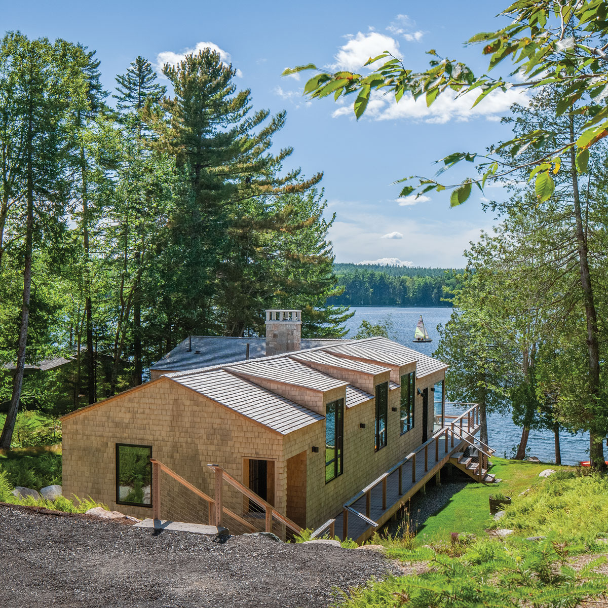 modern architecture and Maine can mix