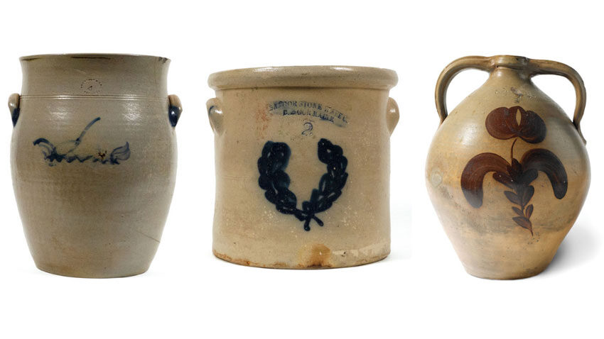 19th-century Maine-made stoneware