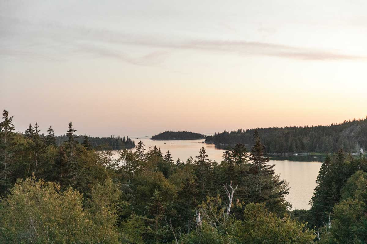 view from a Maine camp