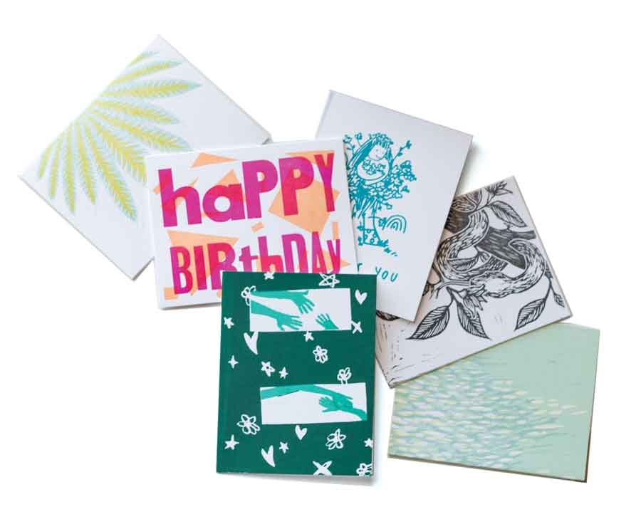 hand-printed cards by Portland's fabulous Pickwick Independent Press