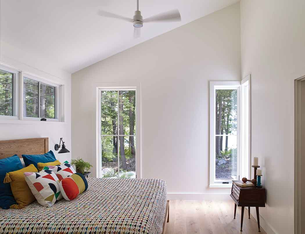 """A sliding barn door the family calls the """"Nana Door"""" separates the dining room from the bedroom wing."""