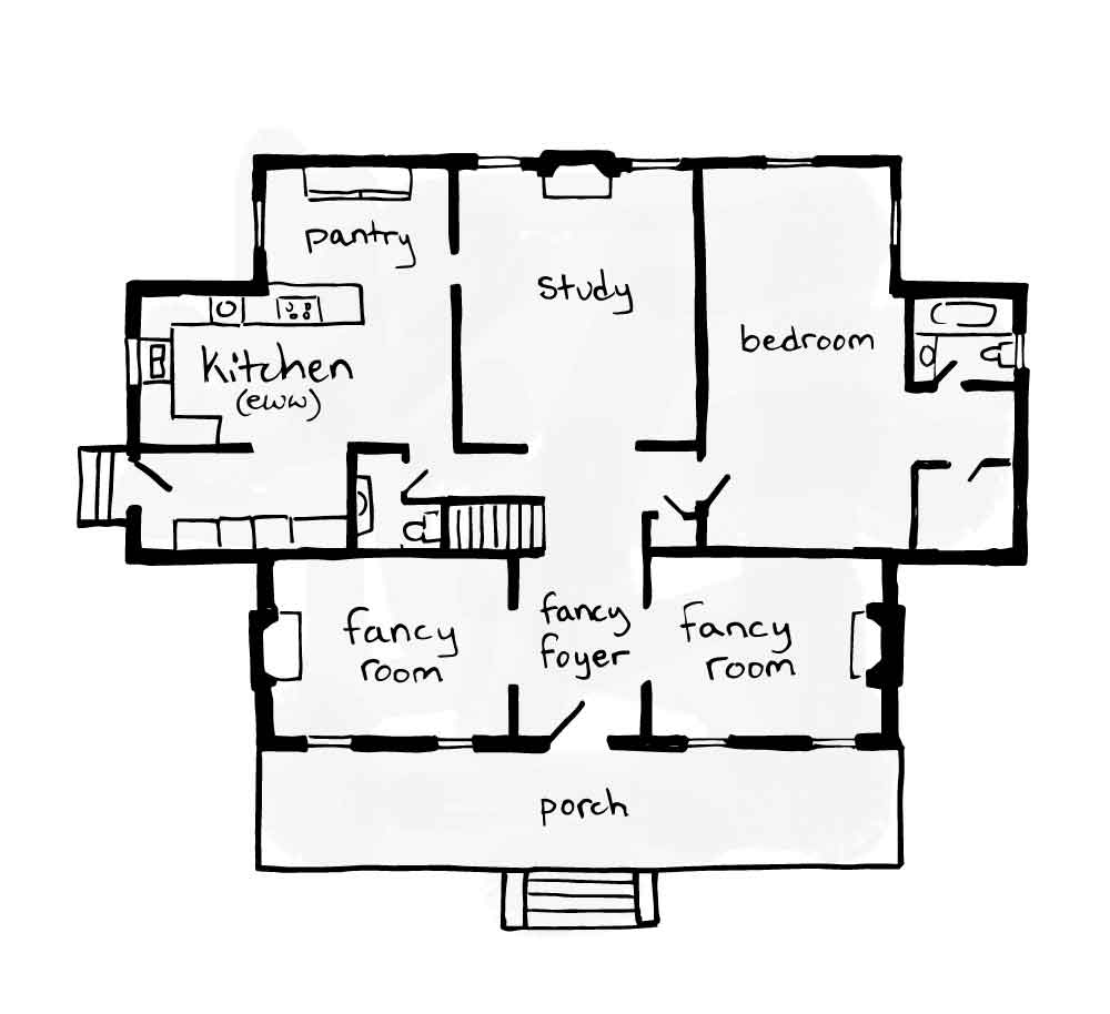 typical layout of a Federal home in Maine