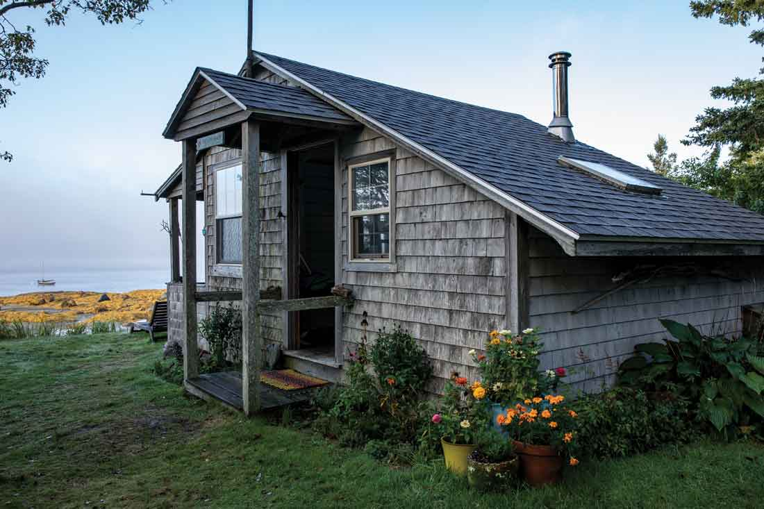 The Love Shack, the original building on this midcoast property, was named for the spell it cast on Jenifer Kindig and Brad Clark when they first saw it.