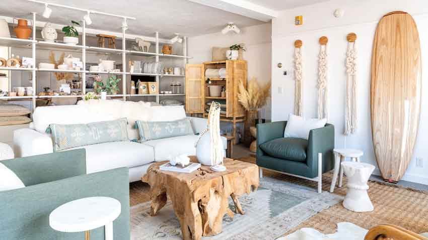 Holly Gagne designed the new Camden shop to resemble a living room