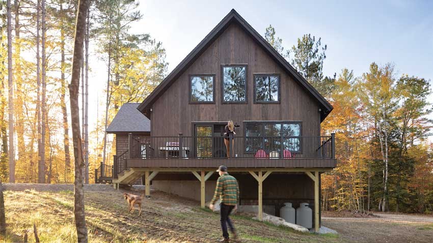 Molly and Eric LaCroix's 2,500-square-foot camp in Bethel, known as #themaineglamp on Molly's Instagram