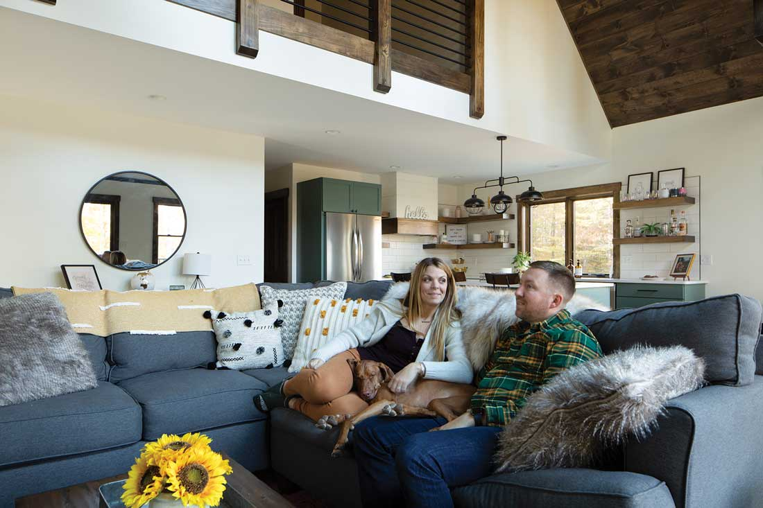 Molly and Eric LaCroix in the camp's living area