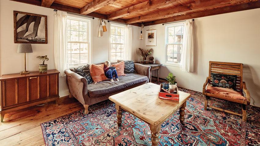 Kristen and Arthur were drawn to the Wiscasset home's historic-looking beams and wide-pine floors