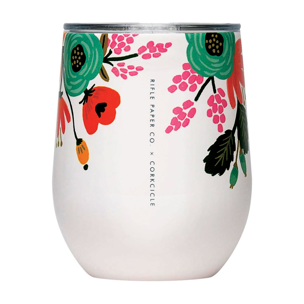 Rifle Paper Co.'s stemless wine cup
