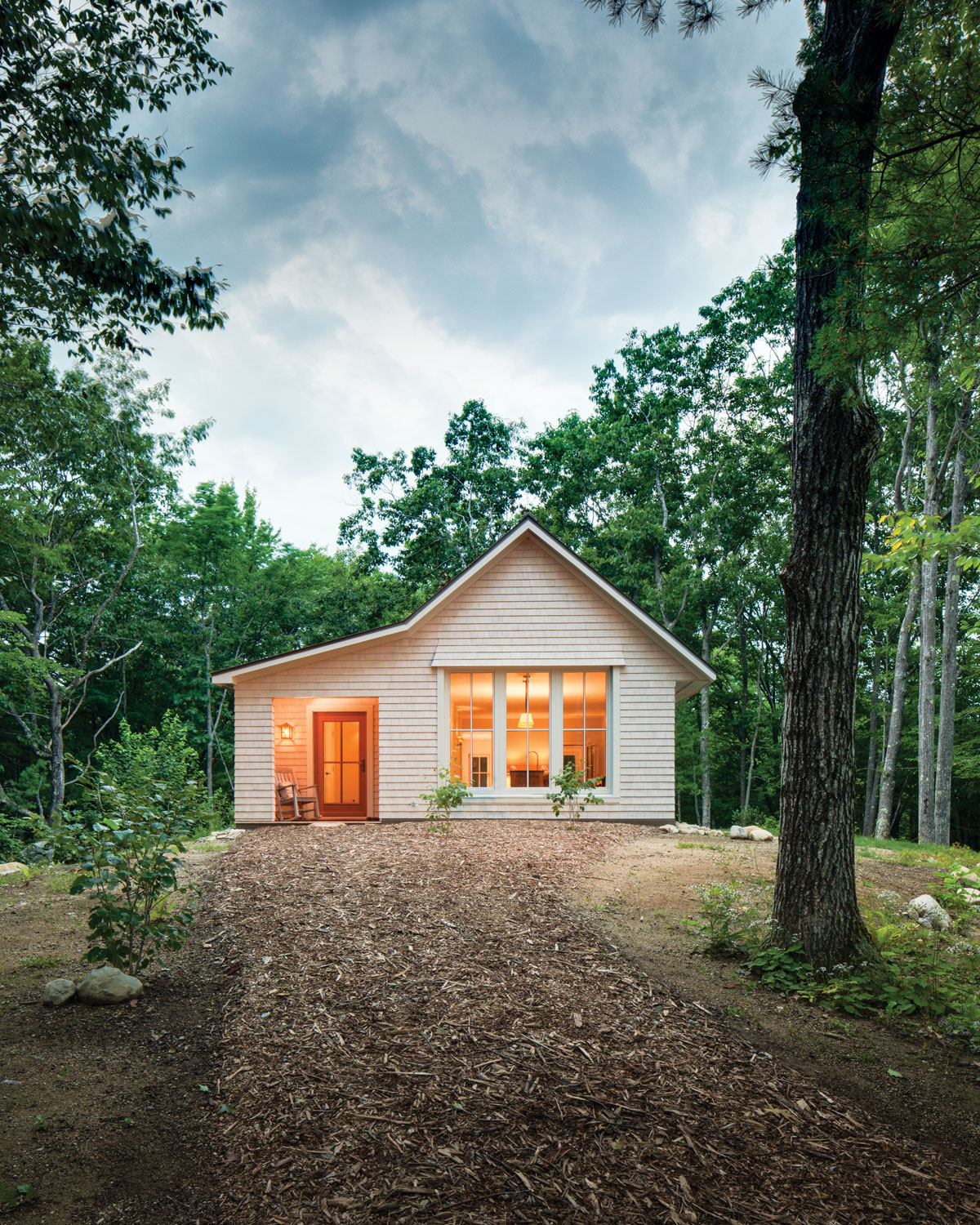 This 1,000-square-foot cutie with two bedrooms and a single bath is one of 12 prefab Go Homes offered by Belfast's GO Logic, which hews to strict Passive House energy standards.